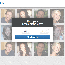 Blue and Gray dating website