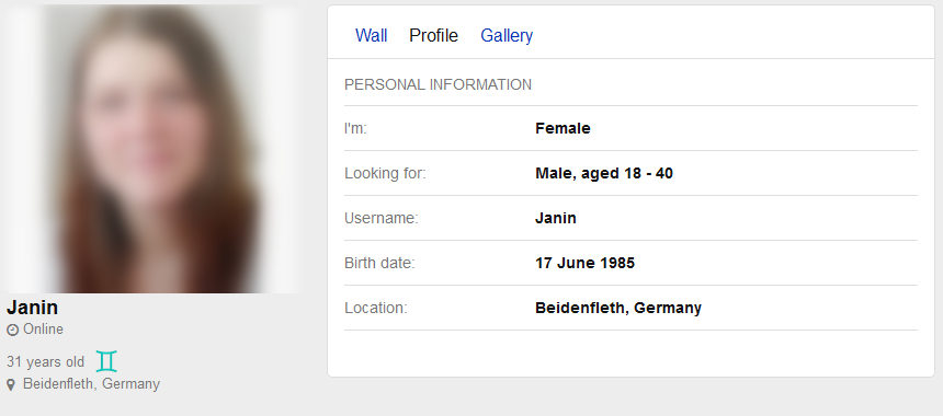 Female dating profile template — 13