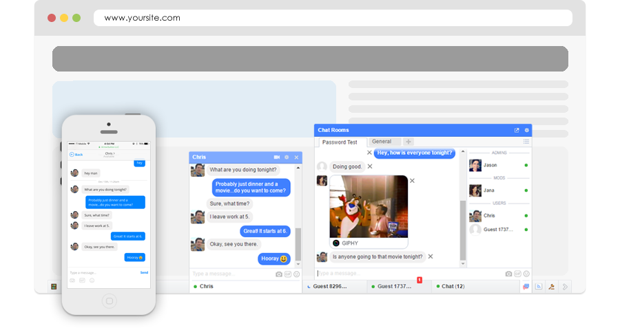Public video chat rooms