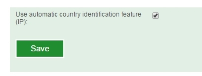 Country IP identification