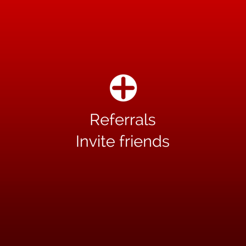 Referral links (Invite friends)