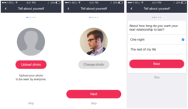 Native mobile dating app for iOS