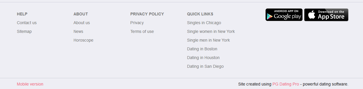 Quick links - Direct access to singles