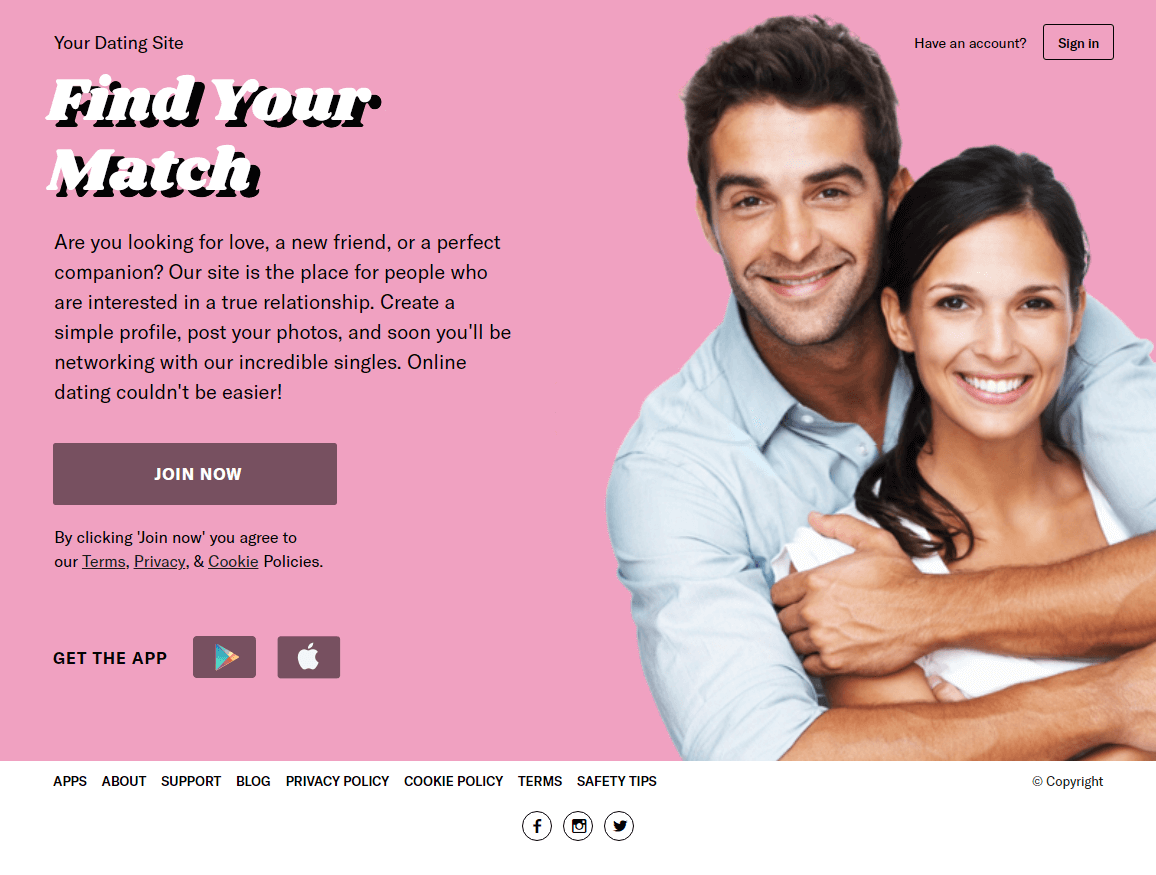 Pilot dating site