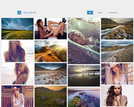 Adaptive Gallery, cascading grid layout