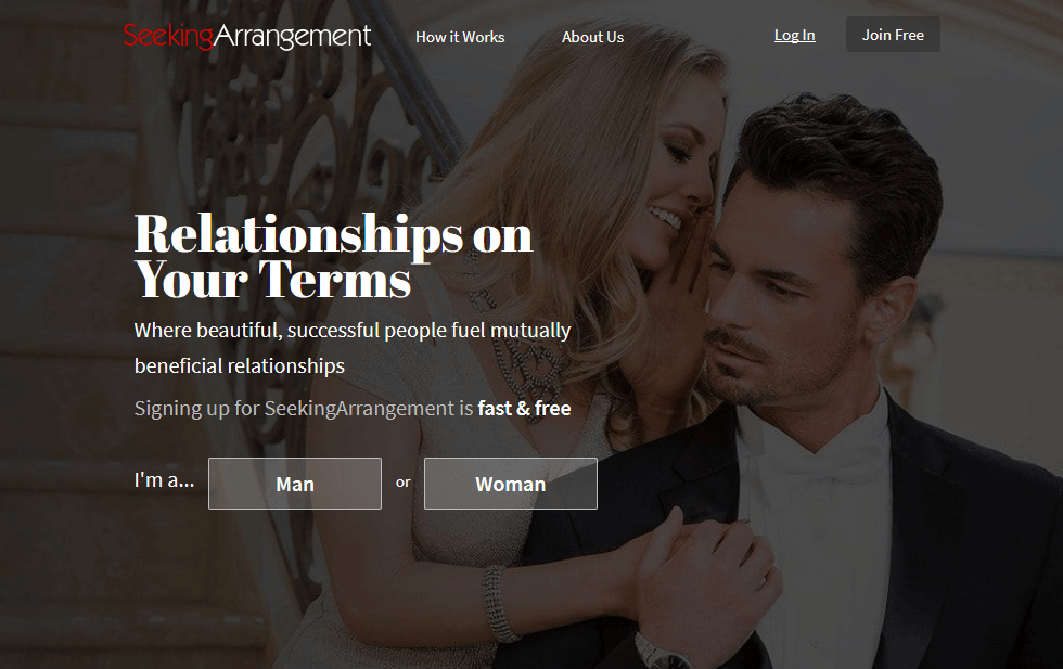 Seekingarrangement login page