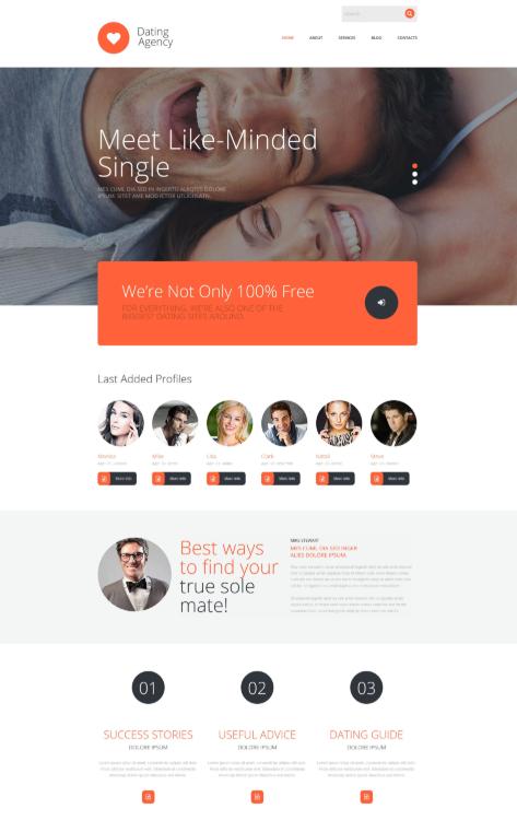 Datingbureau, huwelijksbureau, online dating Begin vandaag nog met het maken je nieuwe website!