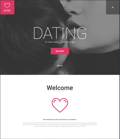 Dating Agency WordPress Theme