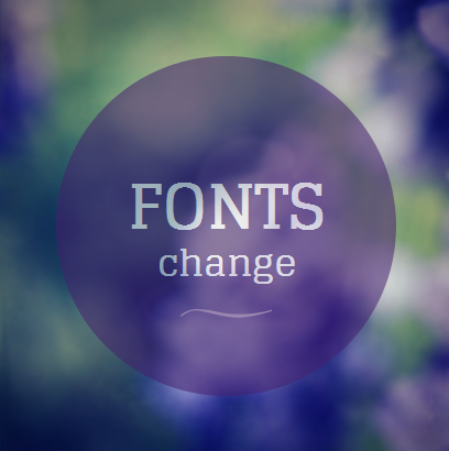 Fonts changes