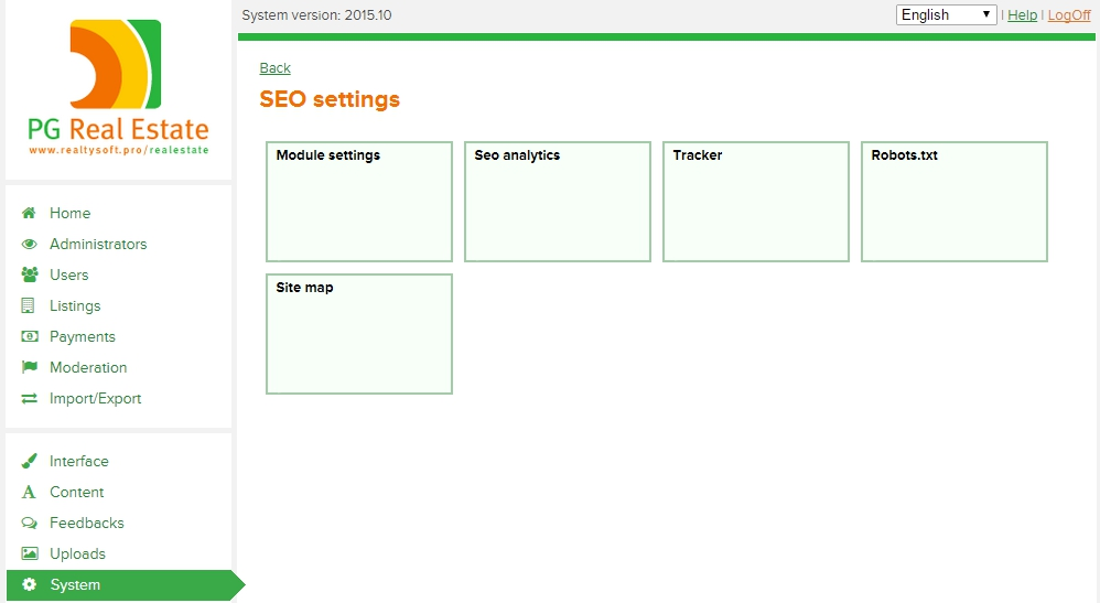 Advanced SEO settings
