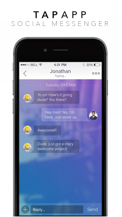 Social Messenger Chat Mobile App for iOS 2016